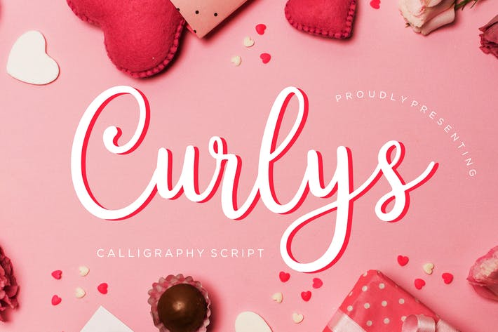 Thumbnail for Curlys Calligraphy Script