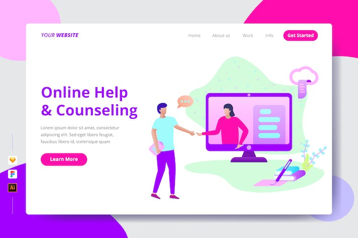 Thumbnail for Online Help & Counseling - Landing Page