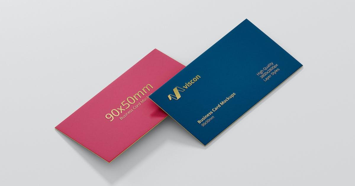 Business Card Mock-Ups by visconbiz