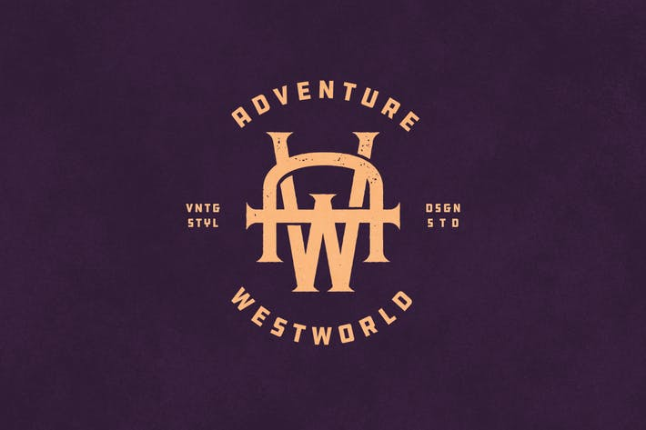 Cover Image For AW Vintage Monogram Logo