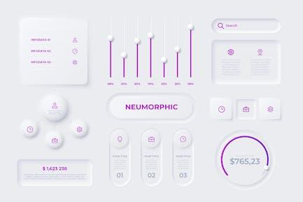 Neumorphic Infographic Elements