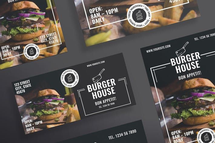 Thumbnail for Burger Restaurant Flyer and Poster Template