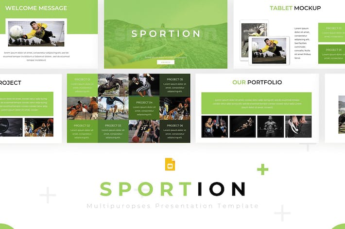 Thumbnail for Sportion - Google Slides Template