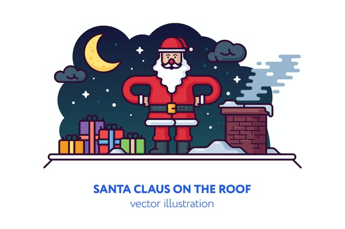Cover Image For Christmas vector illustration