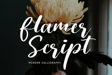 Flamer Script Modern Calligraphy