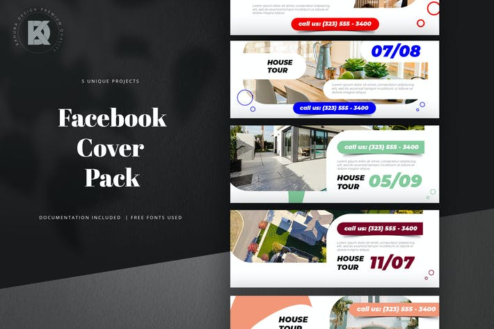 Thumbnail for Real Estate Facebook Cover Pack