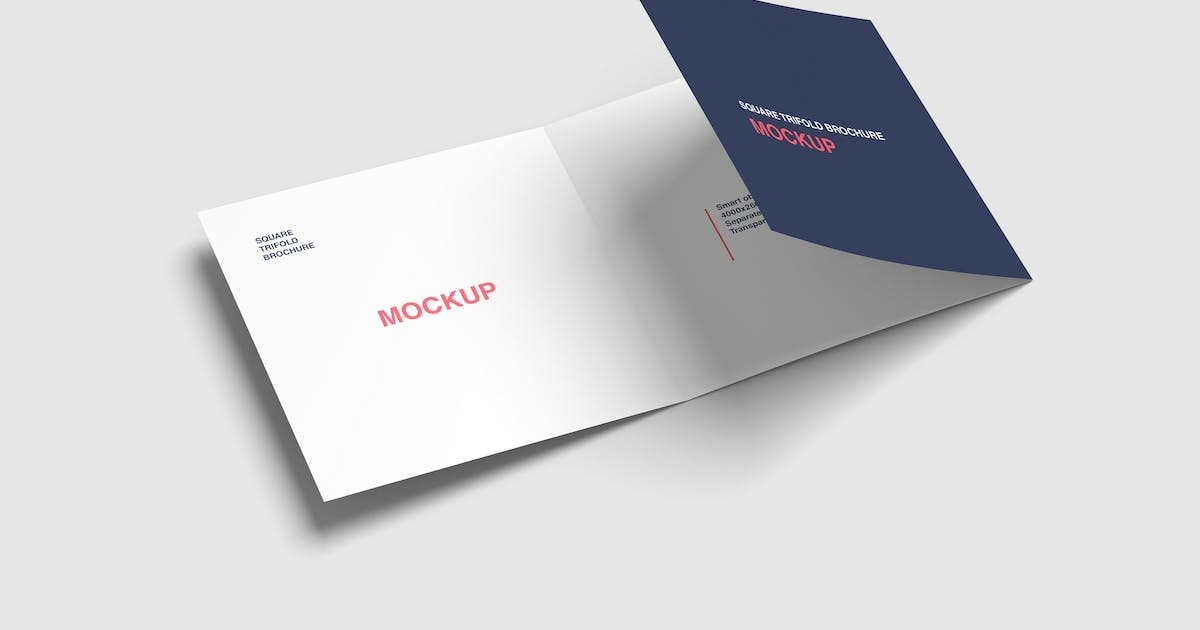 Download Square Trifold Brochure Mockup by graphiccrew
