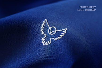 Embroidery Close-up Logo Mockup