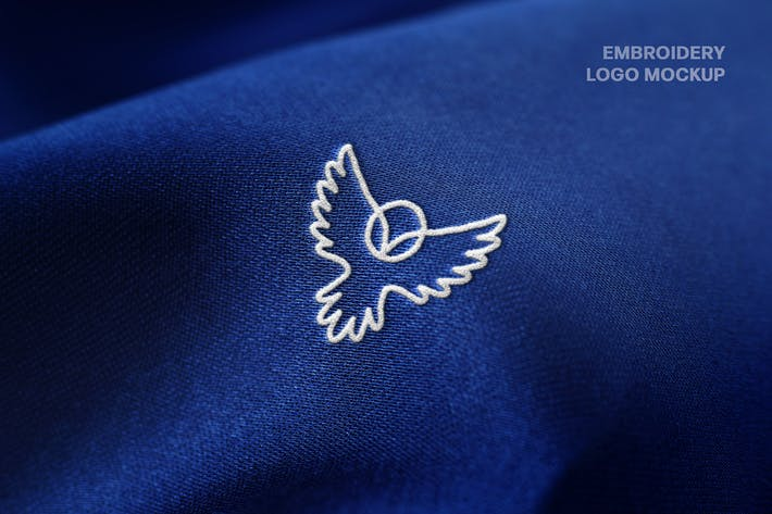 Embroidery Close-up Logo Mockup