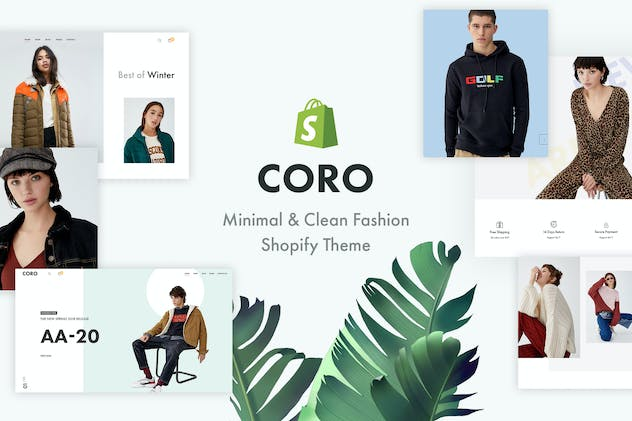 CORO – Minimal & Clean Fashion Shopify Theme