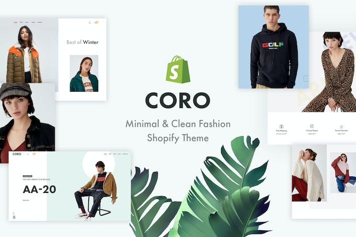 CORO — Thème Shopify de mode minimal et propre