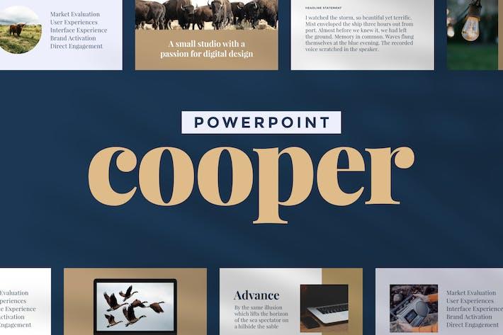 Thumbnail for Купер — Шаблон презентации Powerpoint