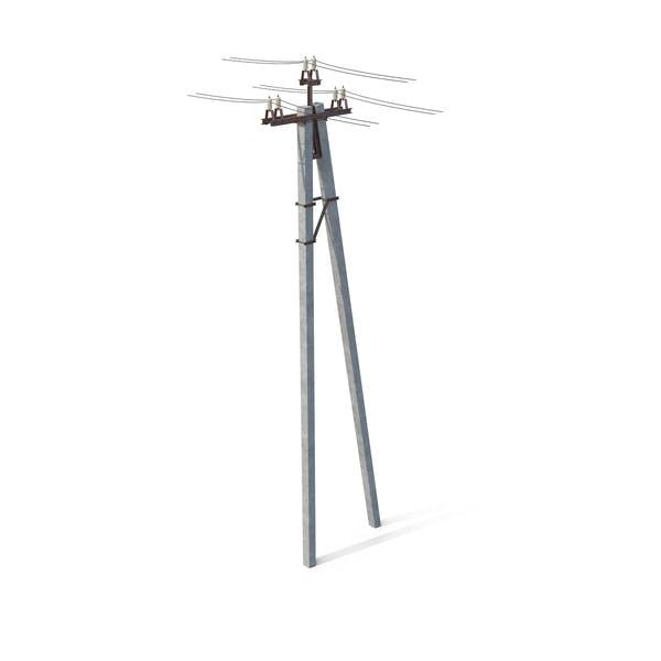 Power Pole mit Drähten