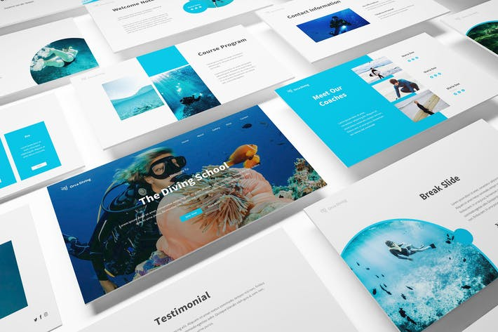 The Dive Powerpoint Template