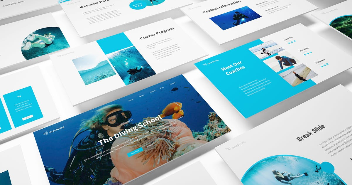 Download The Dive Powerpoint Template by Formatika