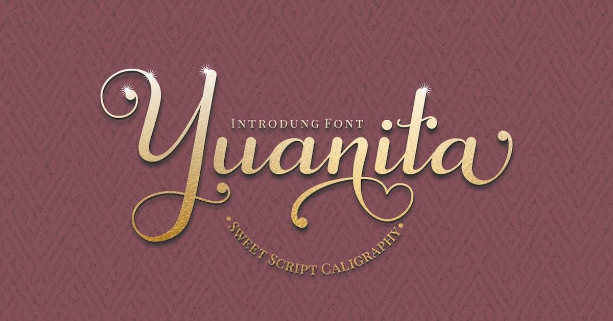 Download Yuanita - Modern Calligraphy Font by Ahnaf-Studio
