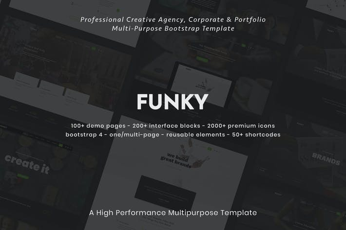 Thumbnail for Funky - Creative Multipurpose Template