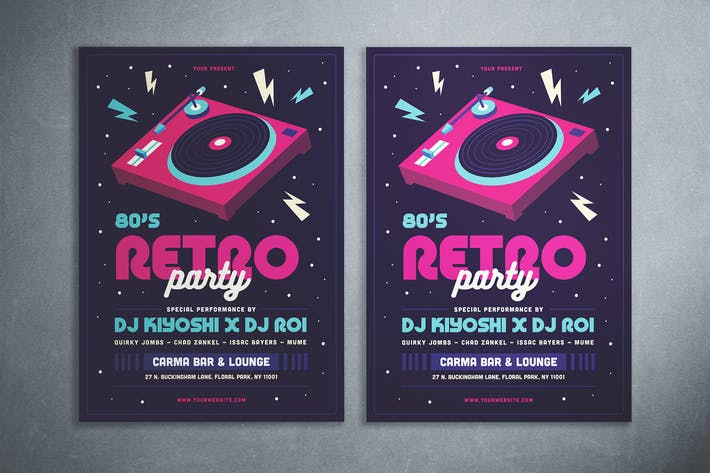 Thumbnail for 80's Retro Party Flyer