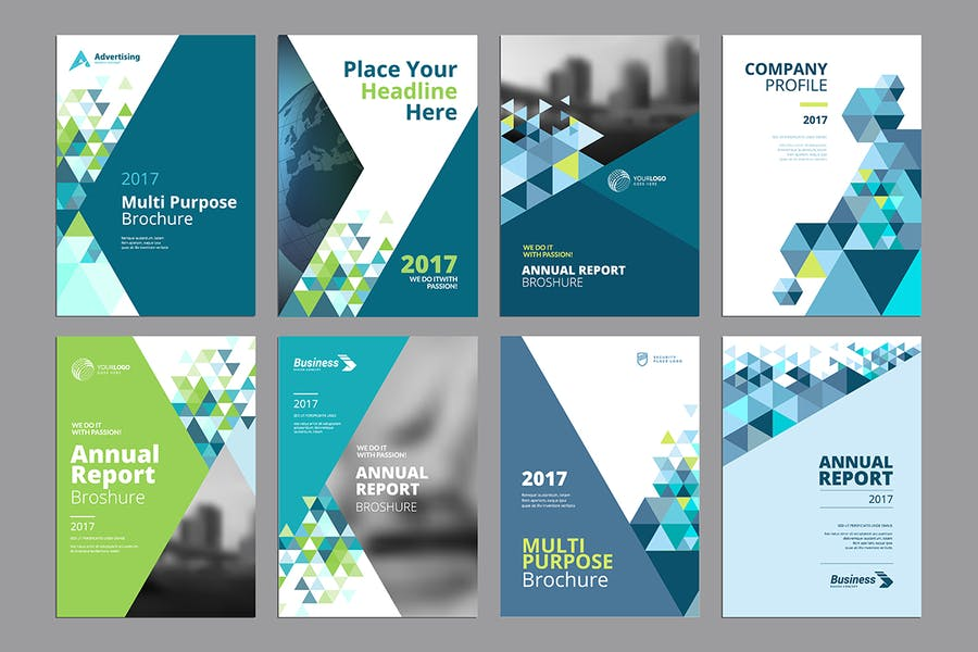 Brochure, annual report, flyer design templates