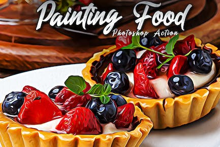 Painting Food Photoshop Actions