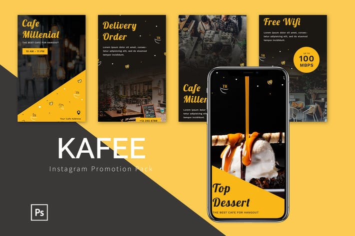 Thumbnail for Kafee - Instagram Promotion Pack