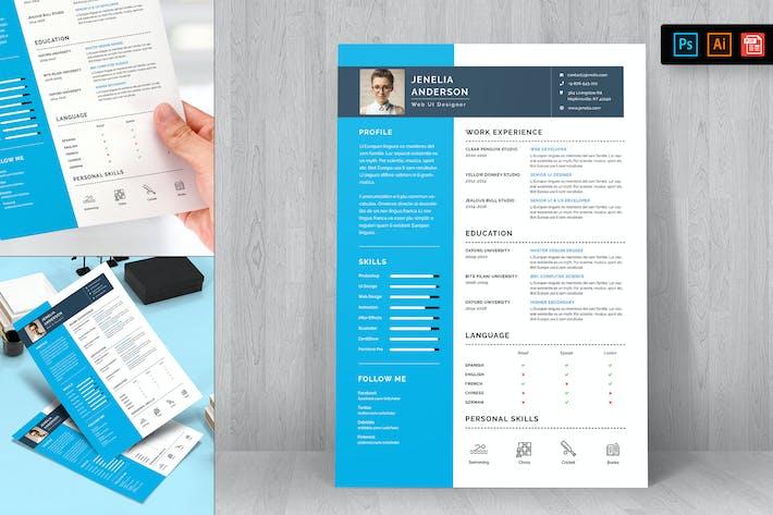 Thumbnail for Resume CV Template-22