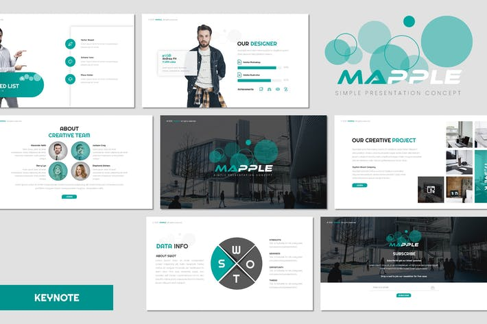 Thumbnail for Mapple - Business Keynote Template