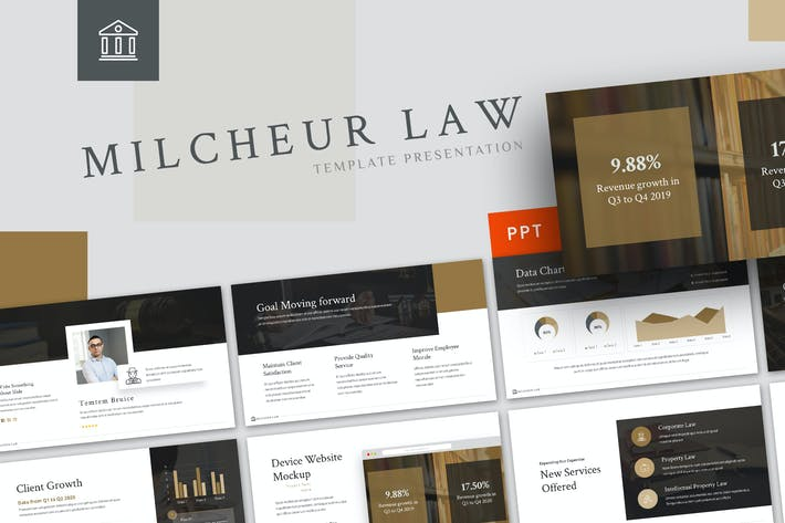 Thumbnail for Milcheur - Law Powerpoint Template