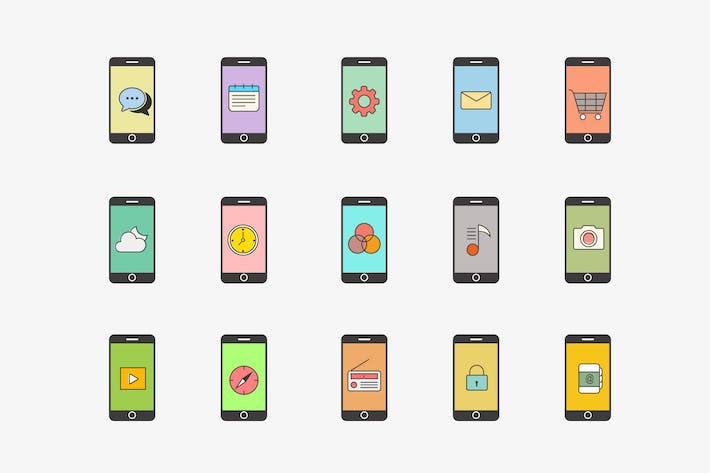 Cover Image For 15 iPhone App Concept Icons