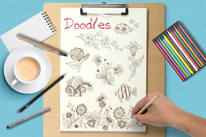 Cover Image For Doodle Design Elements