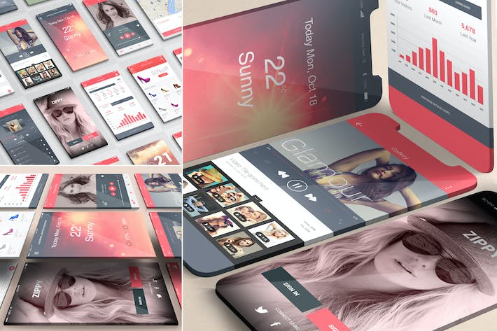 Thumbnail for iOS App Presentation Mockups