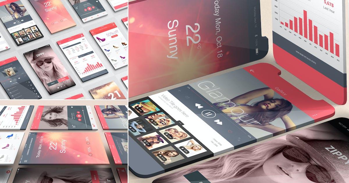 Download iOS App Presentation Mockups by zippypixels