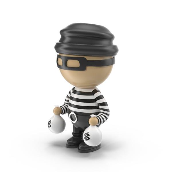 Cartoon Male Thief