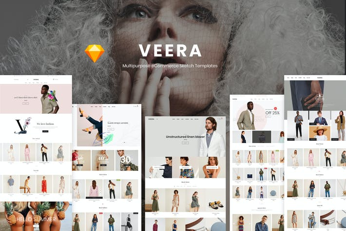 Thumbnail for Veera - Multipurpose eCommerce Sketch Templates