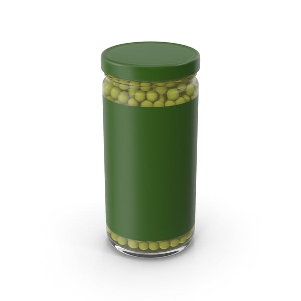 Green Peas Jar With Label