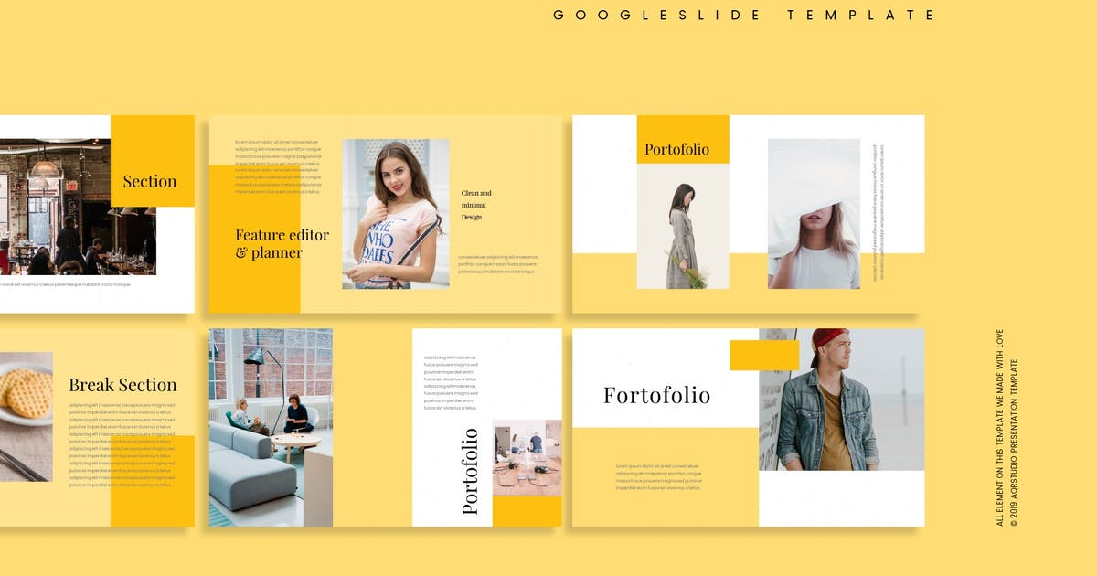 Download Fabrico - Google Slide Template by aqrstudio