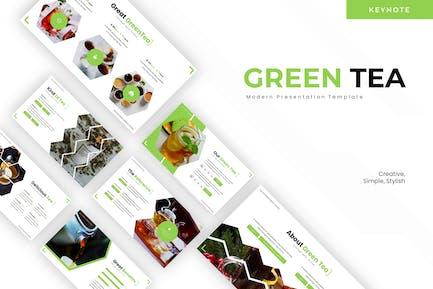 Зеленый чай - Шаблон Keynote