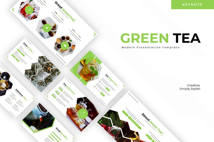 Thumbnail for Зеленый чай - Шаблон Keynote