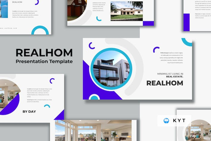 Thumbnail for REALHOM - Real Estate Keynote Template