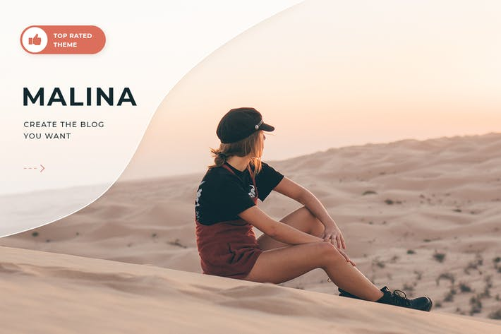 Cover Image For Malina - Personal WordPress Blog Theme