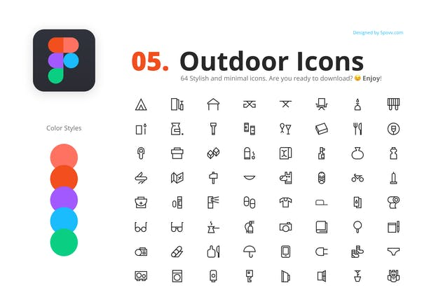 64 Outdoor Icons