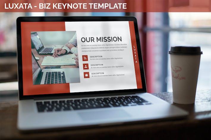 Thumbnail for Luxata - Biz Keynote Presentation Template