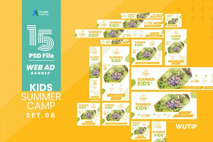 Web Ad Banner-Kids Summer Camp 08