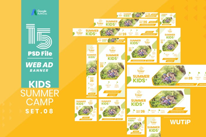 Thumbnail for Web Ad Banner-Kids Summer Camp 08