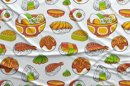 Japan Food Seamless Pattern #01
