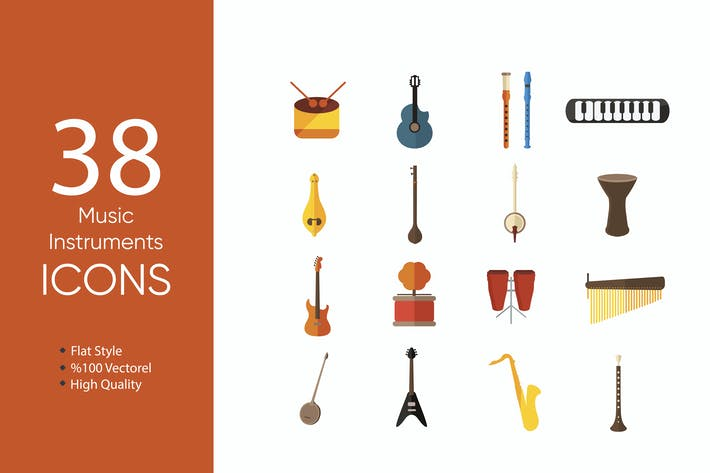 Thumbnail for Music Instruments Icons
