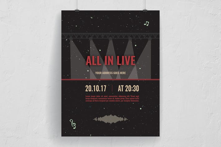 Thumbnail for Stardust All In Live Music Event Flyer
