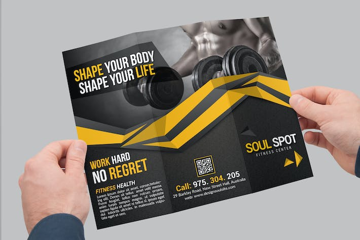 Thumbnail for Fitness Tri-Fold Brochure