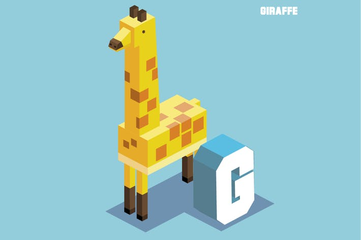 Thumbnail for g for giraffe, Animal Alphabet