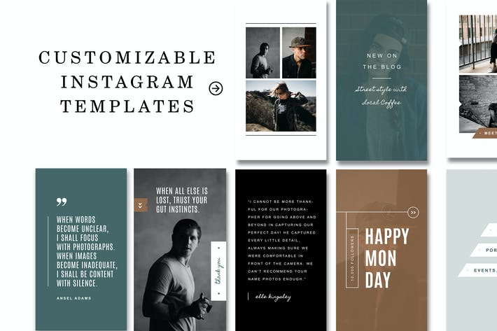 Cover Image For Instagram Stories Templates for Photoshop
